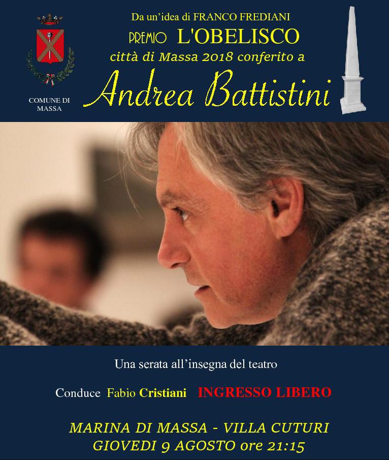 Andrea Battistini riceve il Premio Obelisco 2018