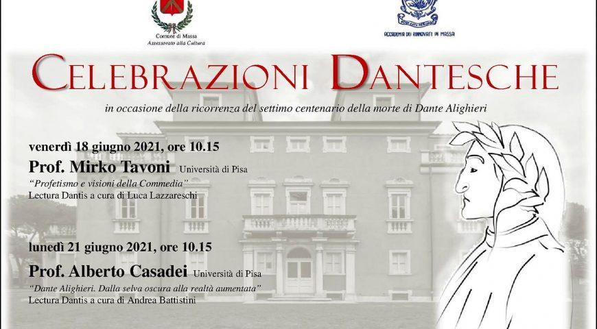 Celebrazioni dantesche per il settimo centenario dalla morte di Dante Alighieri